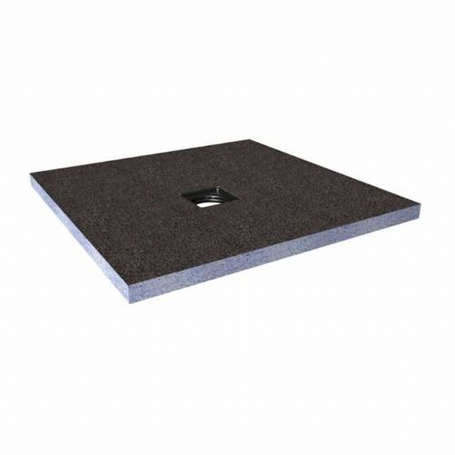 Abacus Elements Square Standard Shower Tray 40mm High With Centre Drain - 1200mm x 1200mm